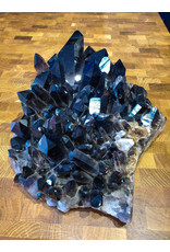 Black Quartz Cluster with Stand 34x25x10cm 6.95kg