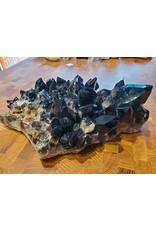 Caroline Cocciardi Black Quartz Cluster with Stand 34x25x10cm 6.95kg