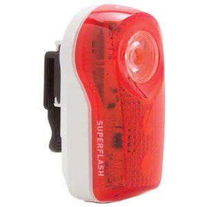 PLANET BIKE Planet Bike, SUPERFLASH, RED/WHITE.5-WATT-LED