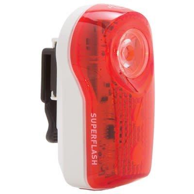 PLANET BIKE Planet Bike, SUPERFLASH, RED/WHITE.5-WATT-LED