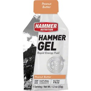 Hammer Nutrition Hammer Gel: Peanut Butter, 24 Single Serving Packets