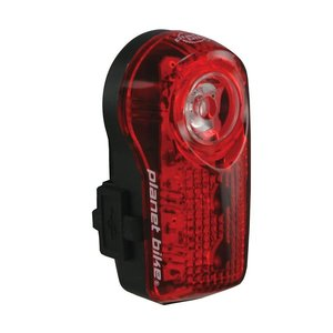 PLANET BIKE Planet Bike Superflash USB-Rechargeable Tail Light: Red/Black