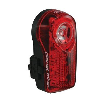PLANET BIKE Planet Bike Superflash USB-Rechargeable Tail Light: Red/Black