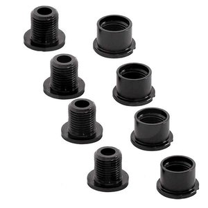 Easton Cycling Easton, Chainring bolts and nuts,  M8X8.5, Aluminum, Pack of 4
