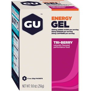 GU GU Energy Gel: Tri Berry, Box of 8