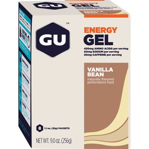 GU GU Energy Gel: Vanilla, Box of 8
