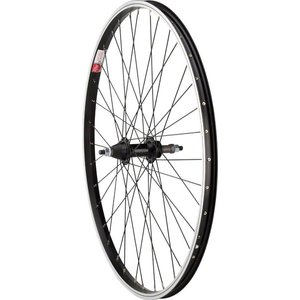 "Sta-Tru Sta-Tru Rear Wheel 26"" x 1.5"" Solid Axle, 36 Spokes, 5-8 Speed Freewheel, Includes Axle Nuts, Black"