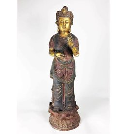 Chinese Guilt Bronze Quanyin Goddess