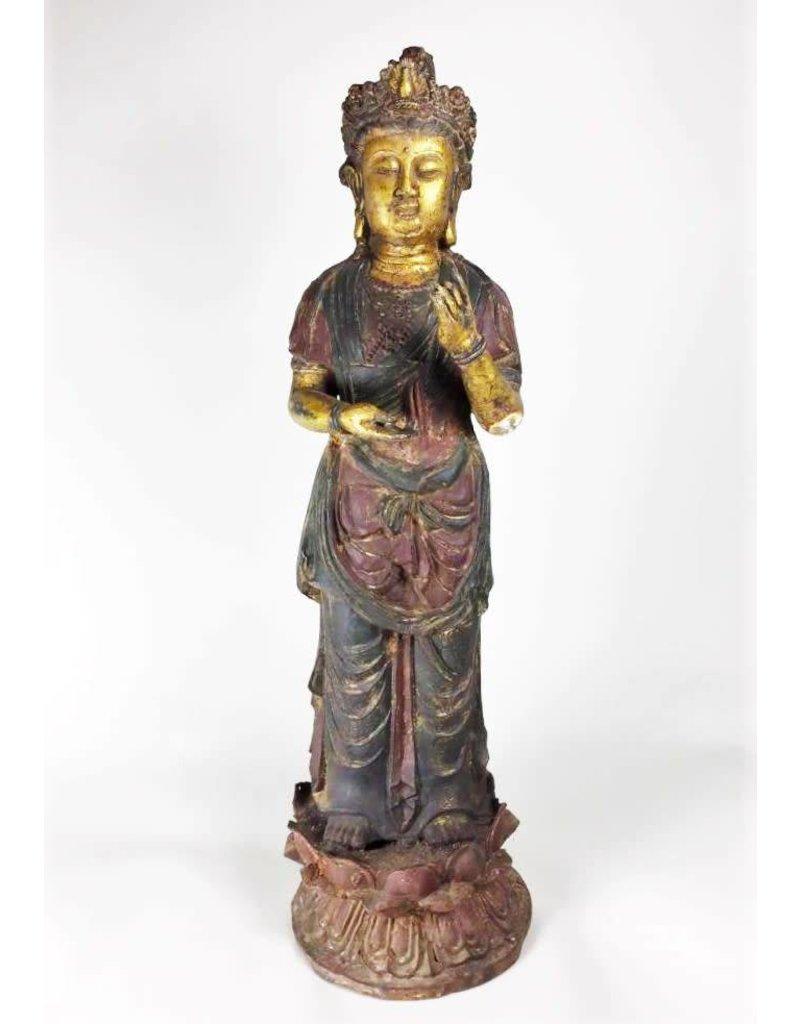 Chinese Guilt Bronze Quanyin Goddess