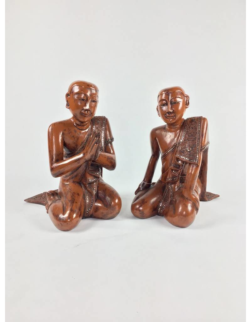 Kneeling Monks, Pair