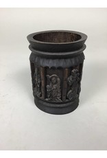 Chinese Paint Brush Holder Craved Wood