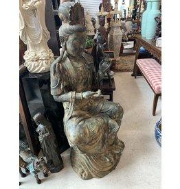 Life Size Bronze Seated Guan Yin
