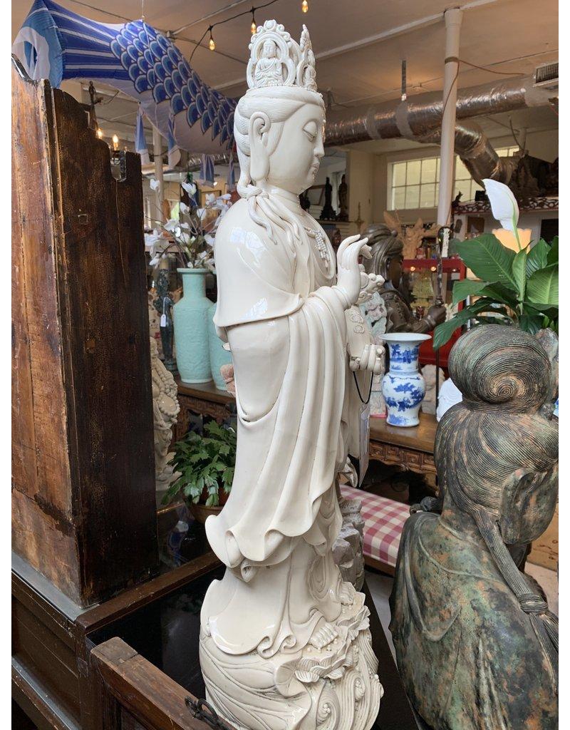 Blanc De Chine Guan Yin on Lotus