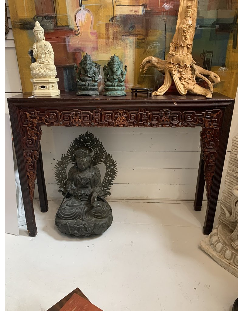 Carved Wood Alter Table