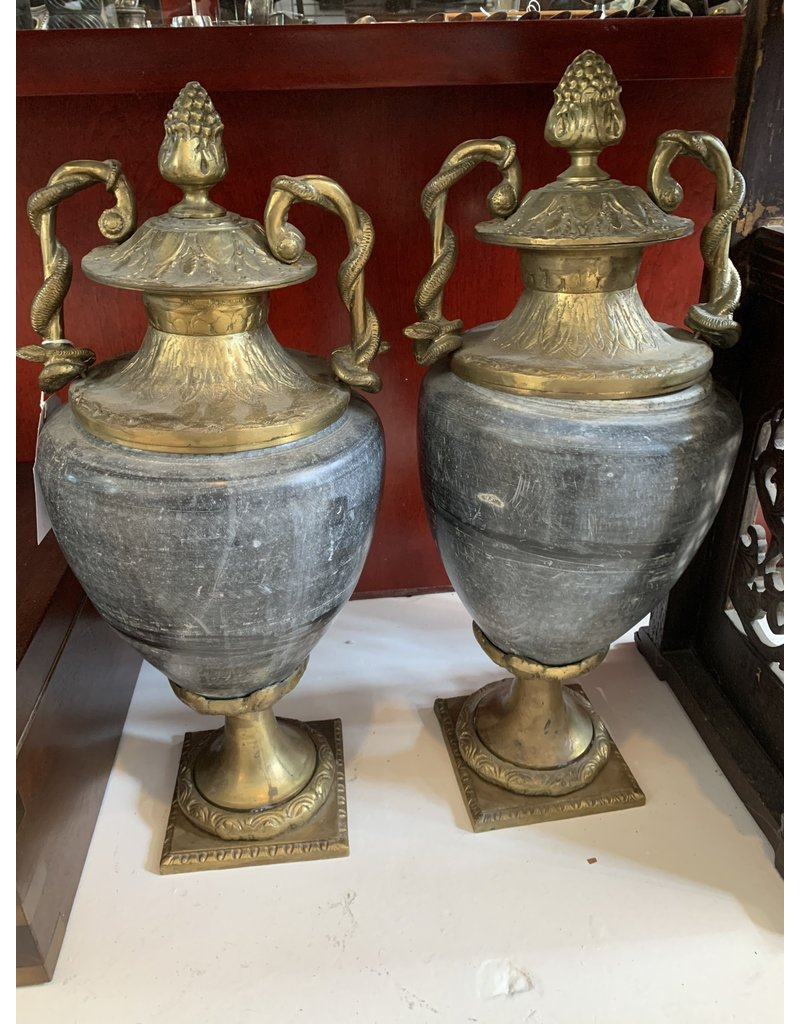 Bronze and Granite Urns ($950 each)