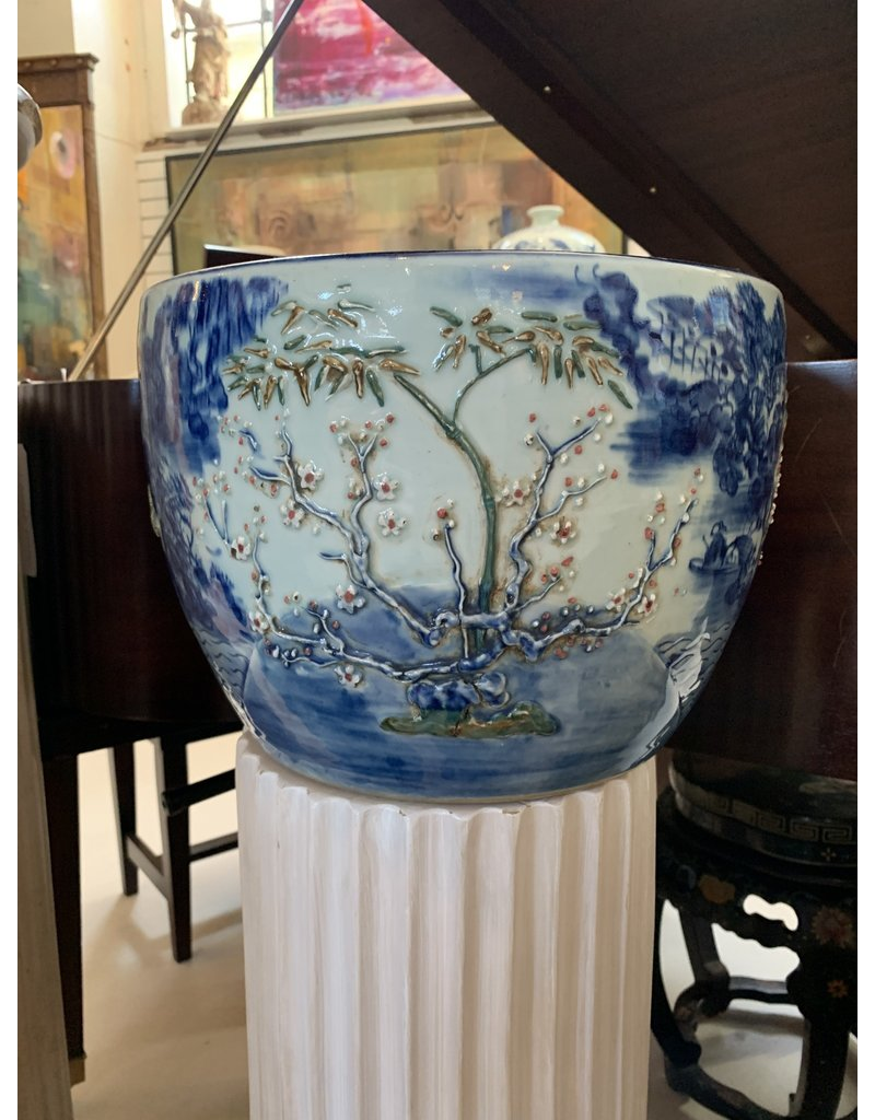 Chinese Blue/White Planters (Pair)