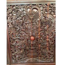 Monumental Chinese Carved Wood Screen