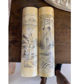 Ivory/Bone Erotica Illustrations (Pair)