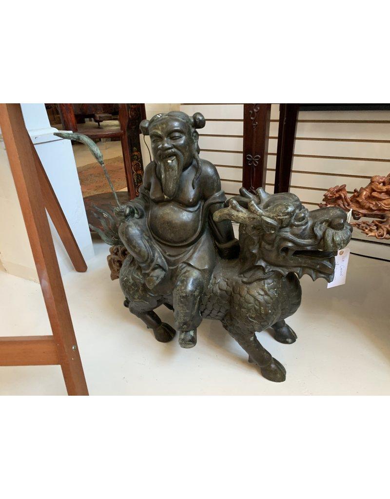Bronze Wise Man Riding Dragon