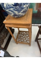 Blonde Wood Table Pedestal