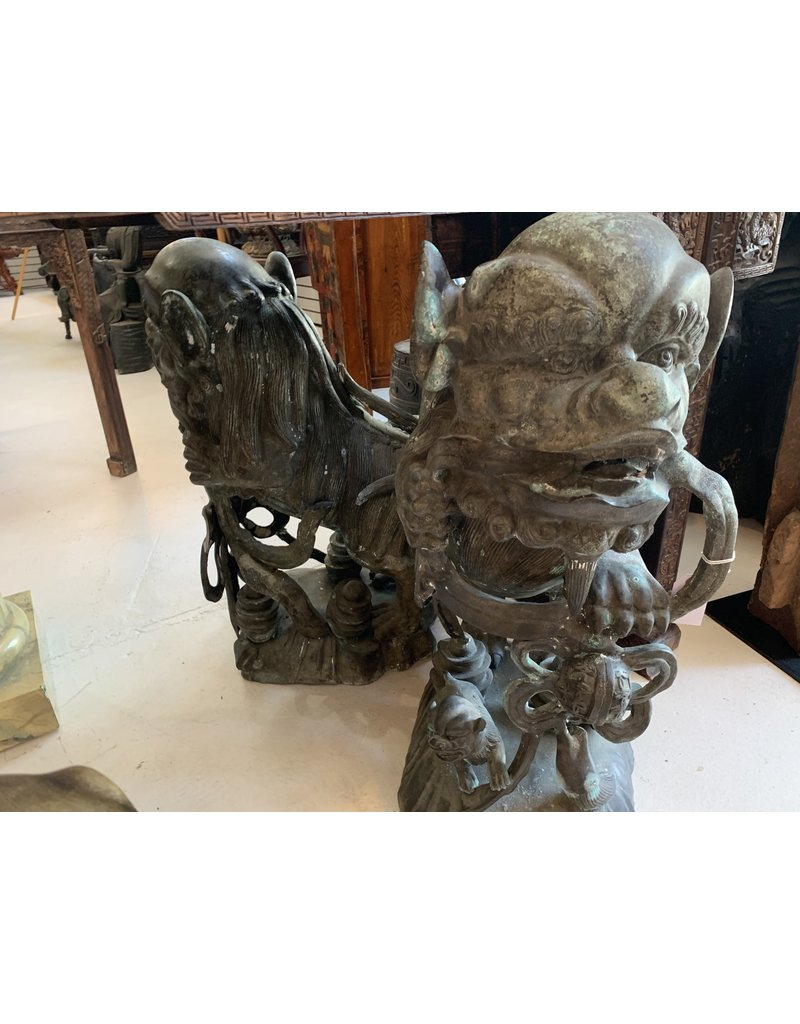 Bronze Foo Dogs (Pair)
