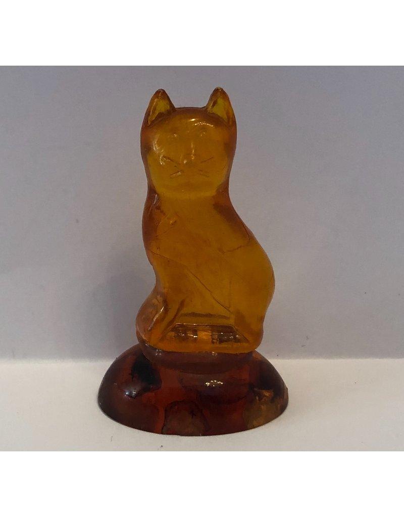 Amber Feline Statuette