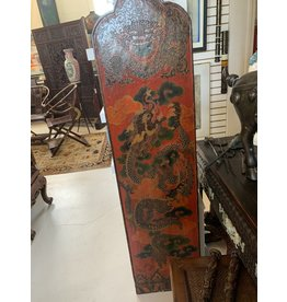 Chinese PolyChrome Dragon and Foo Dog Panels (Pair)