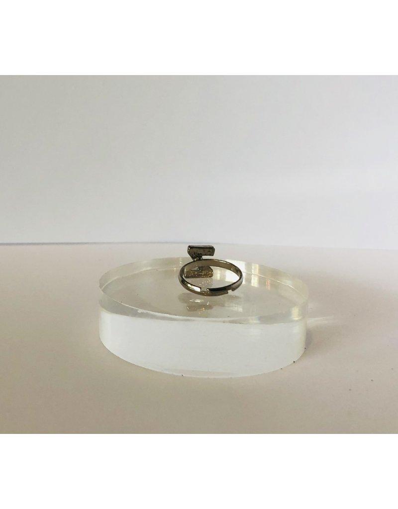"""Silver """"Z"""" Ring"""