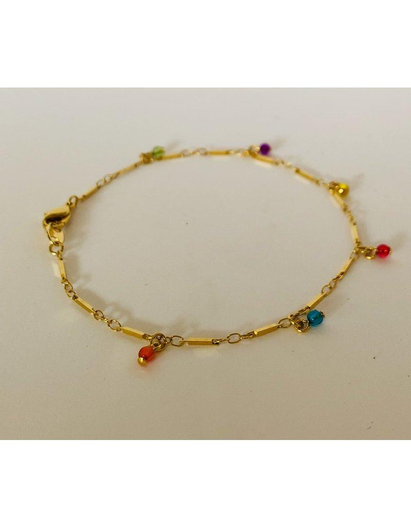 Multicolored Bead Bracelet