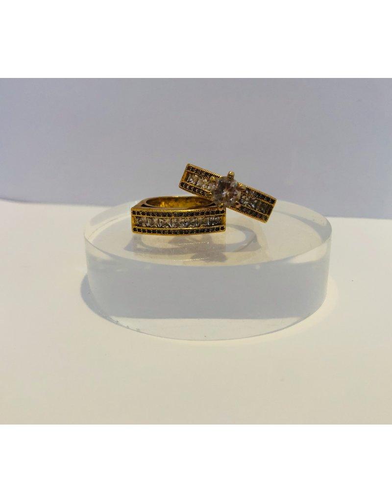 Faux Wedding Ring Set