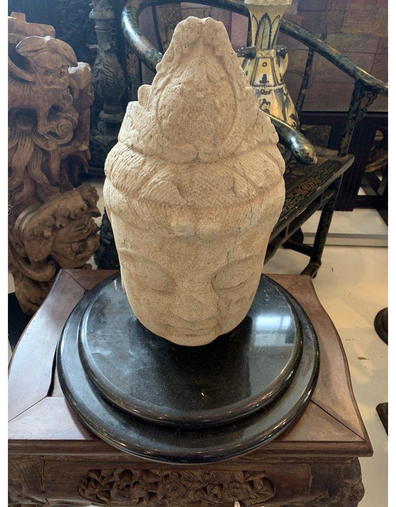 Early Cut Stone Buddha Head