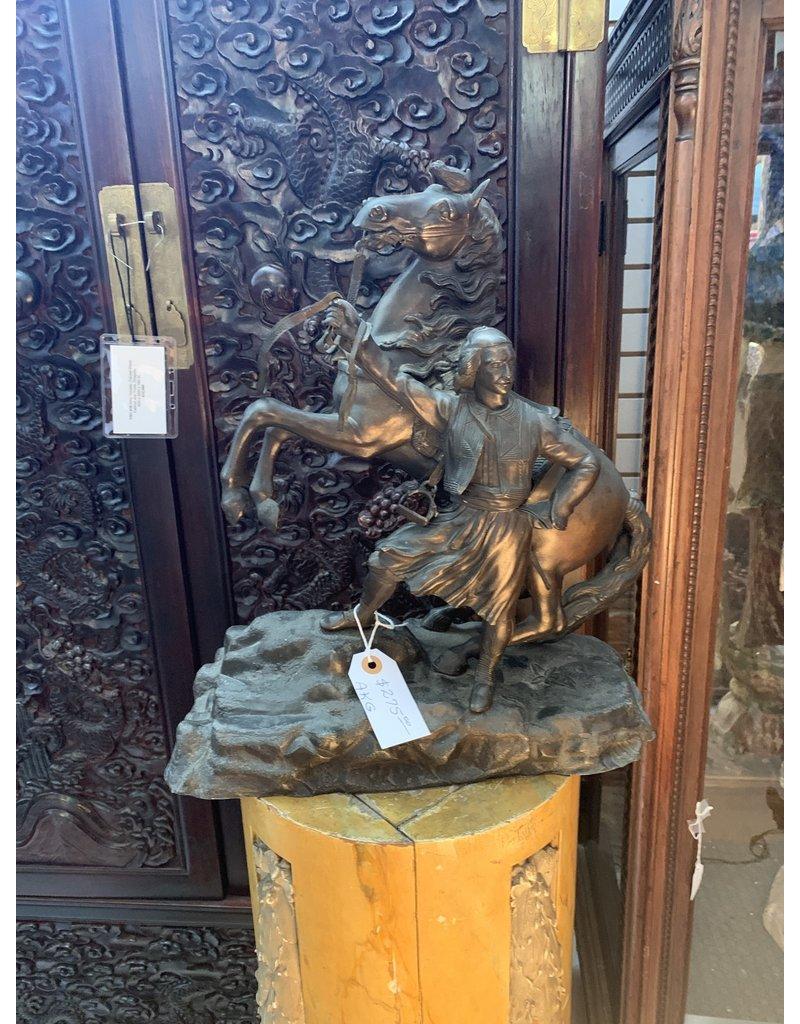 Bronze Man w/Horse AKG