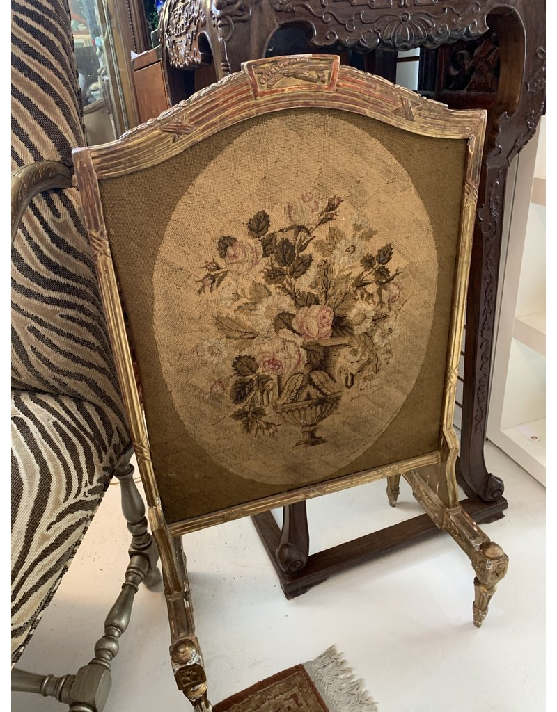 French Embroidered Screen