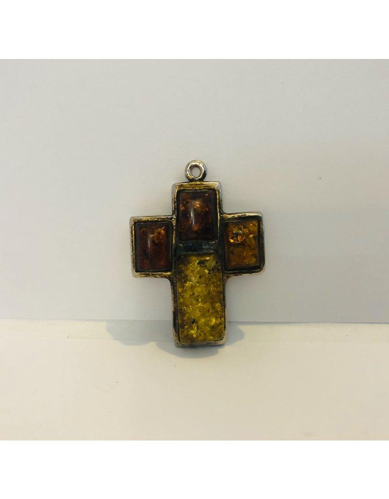Amber Tone Crucifix