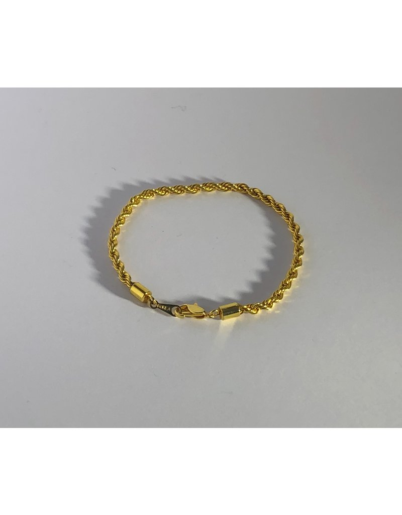 Gold Tone Korea Rope Chain Bracelets