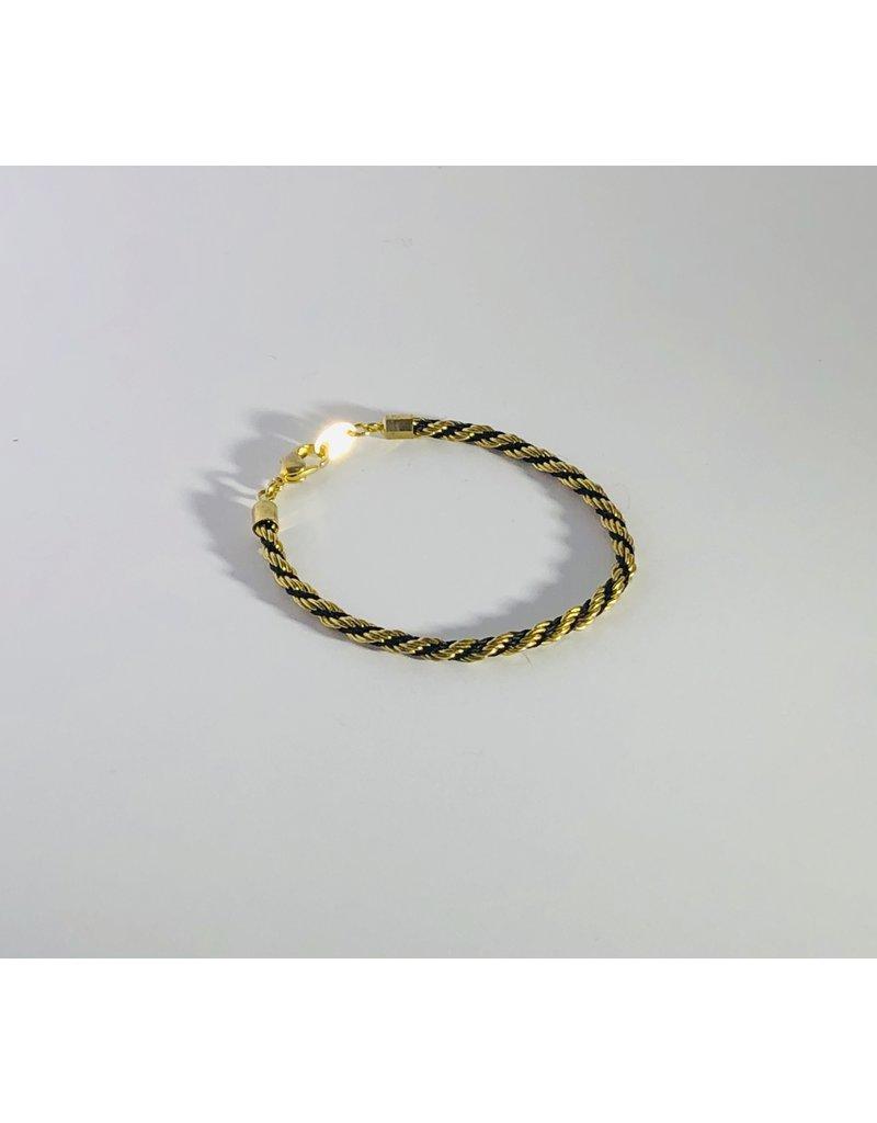 Avon Gold Tone Rope Bracelet