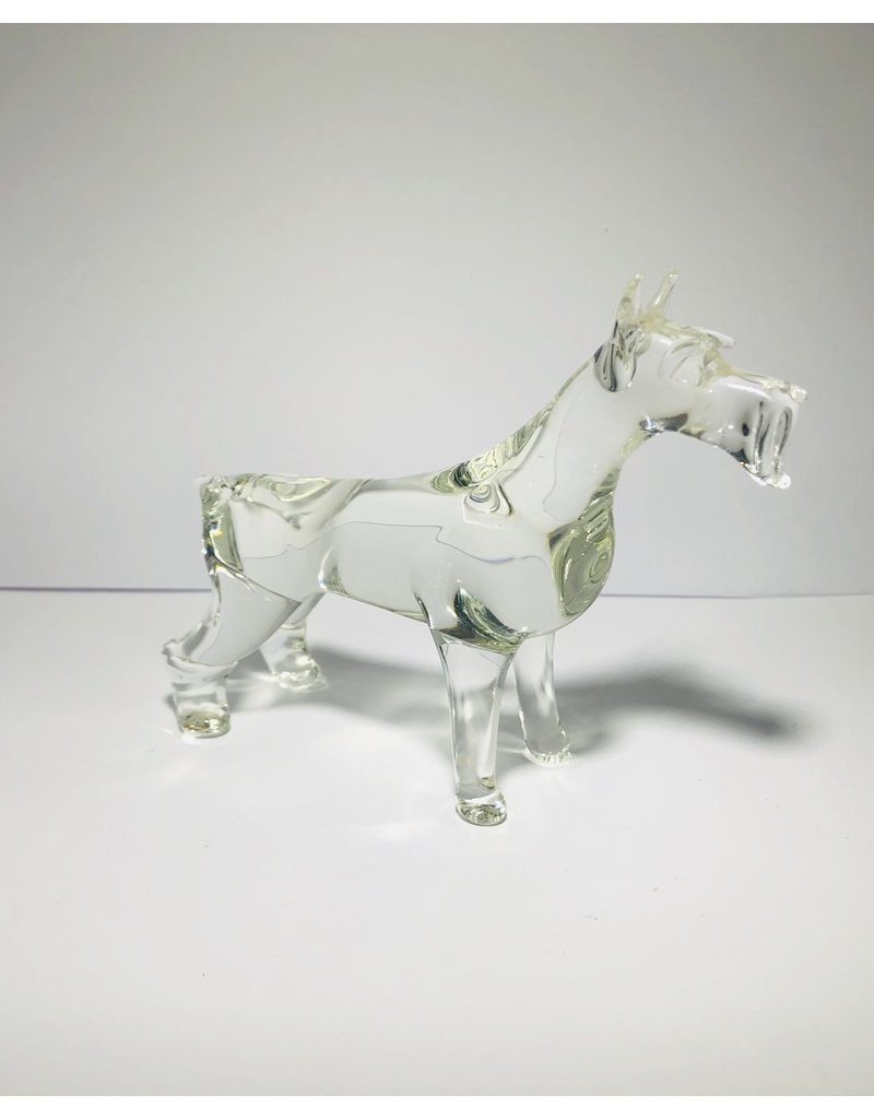 Crystal Schnauzer Dog Figurine