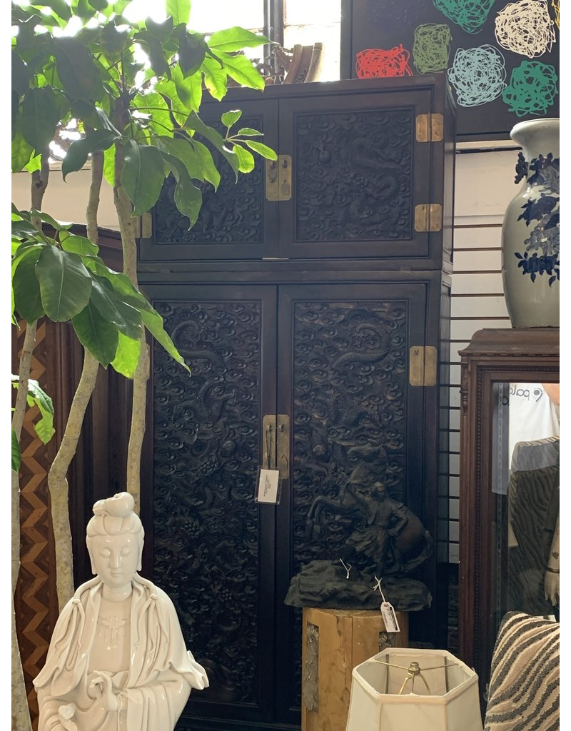 Hand Carved Chinese Cabinet