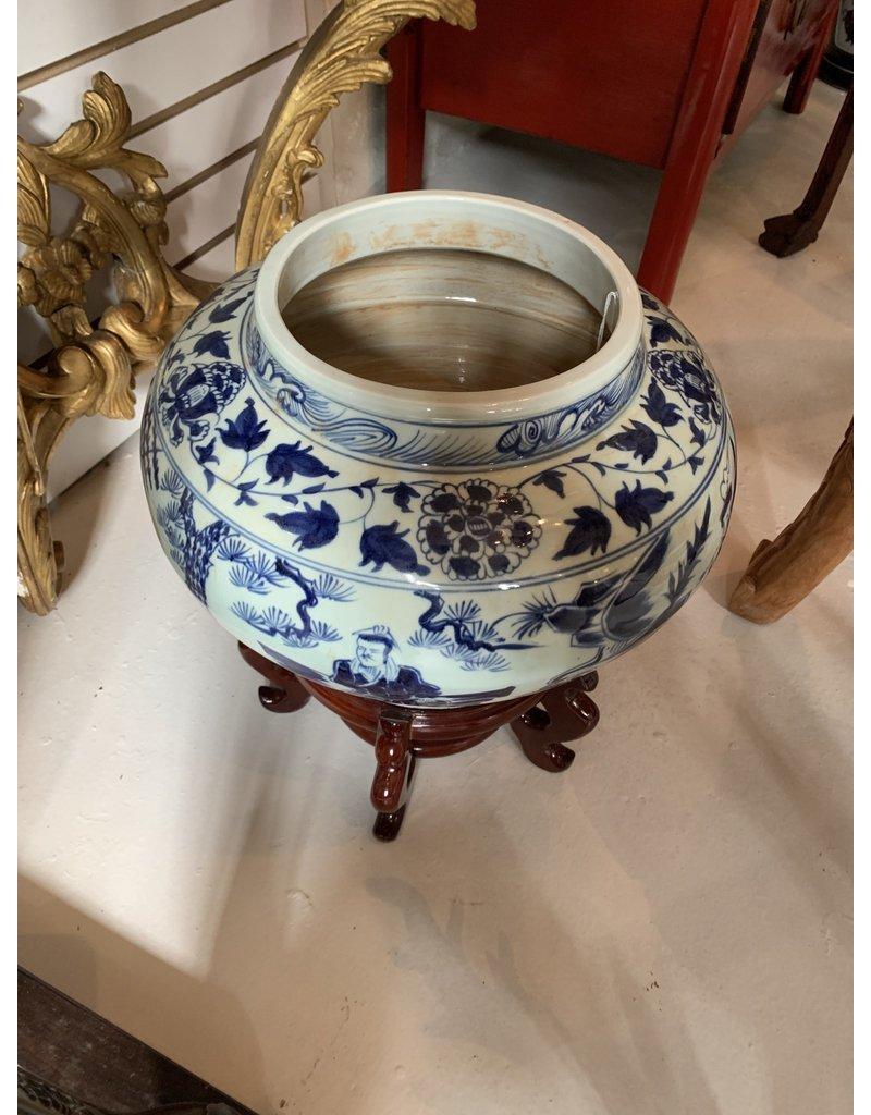Chinese Blue/White Vase on Base