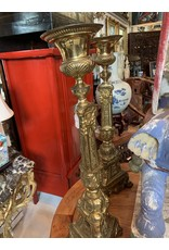 Gilt Metal Candle Holders (Pair)