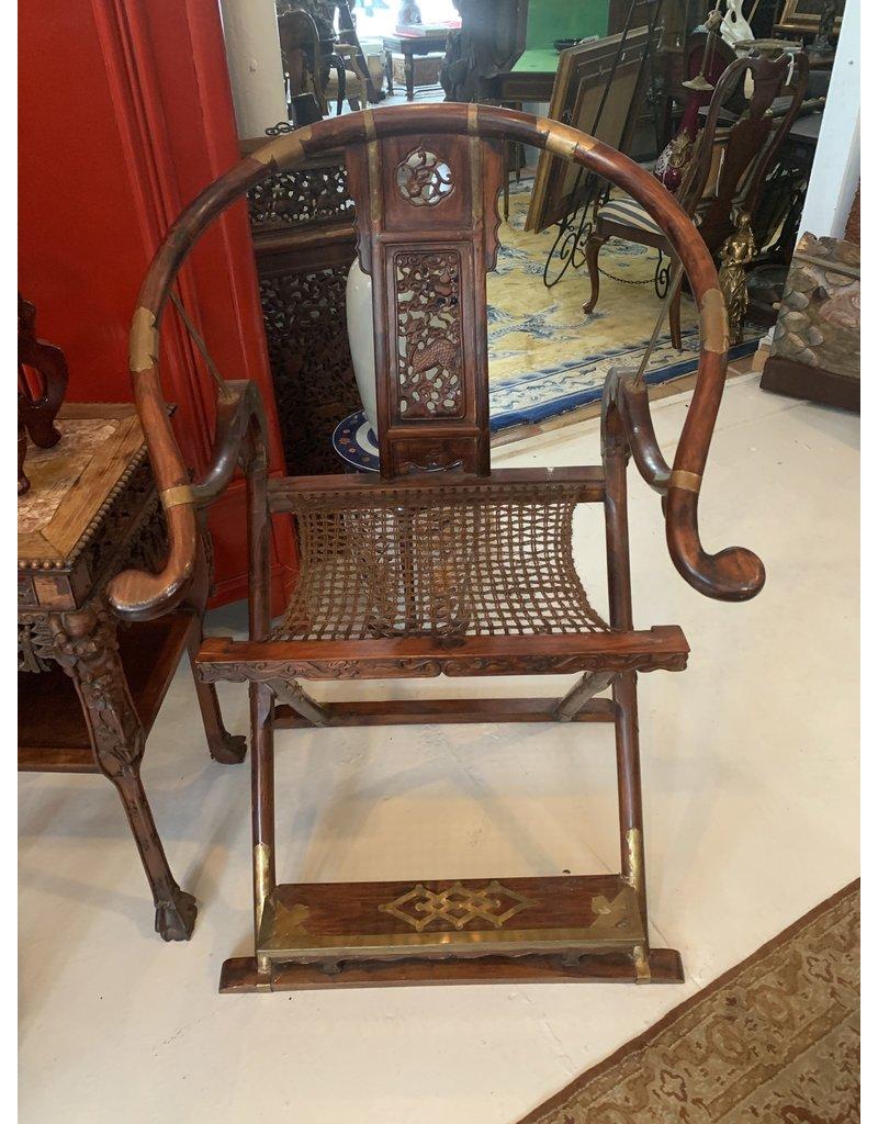 Horsesho Qing Dynasty Chair