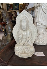 Blanc De Chine Seated Quan Yin w/Aura