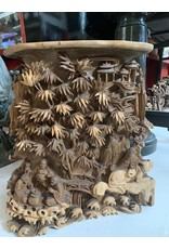Hand Carved Chinese Village Scene