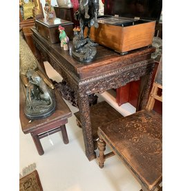 Hand Carved Wood Alter Table