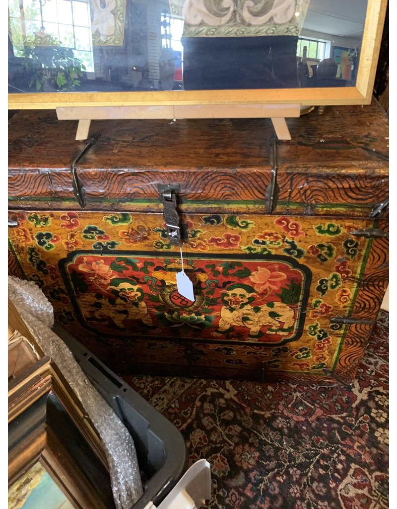 Chinese PolyChrome Hand Painted Chest