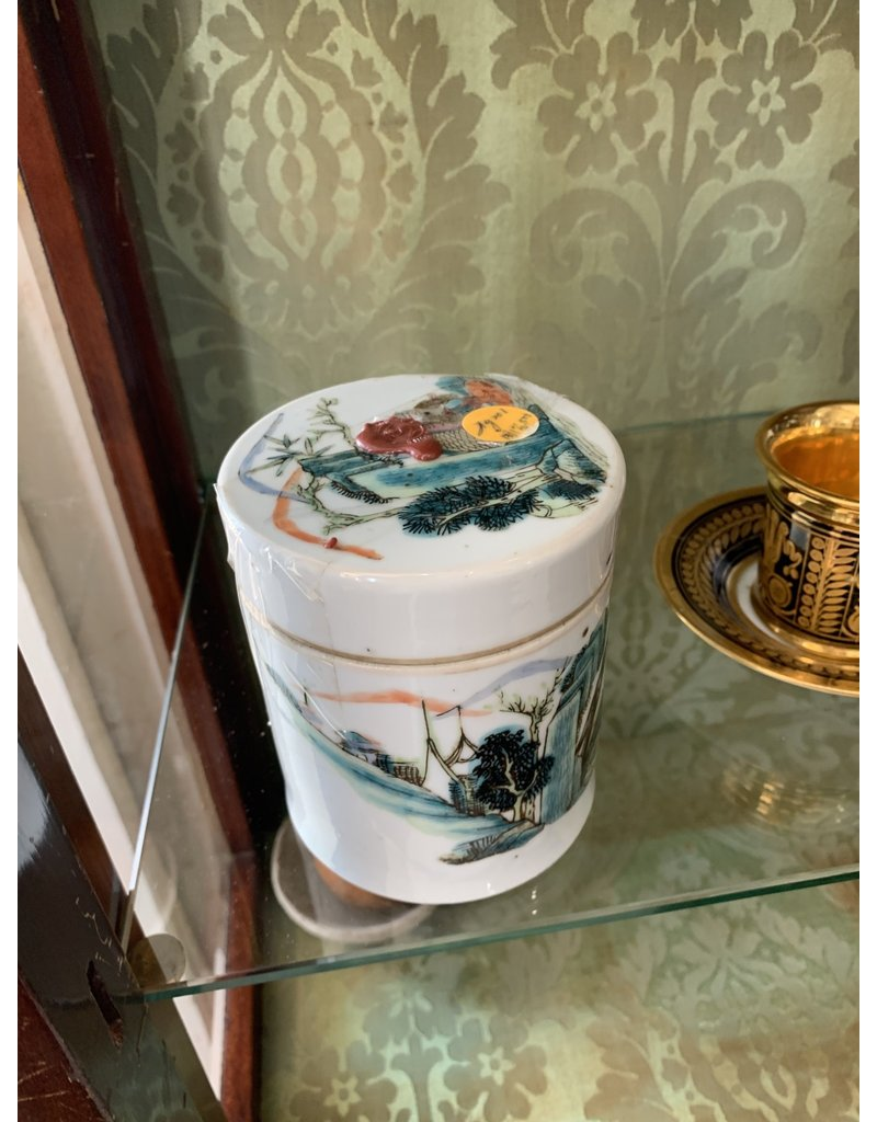 Early PolyChrome Porcelain Box