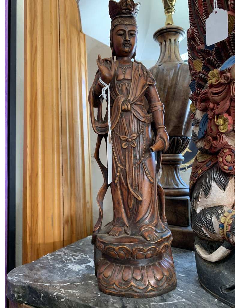 Carved Standing Quan Yin