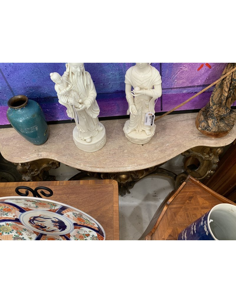 Gilt Wood/Marble Top Wall amounted Table