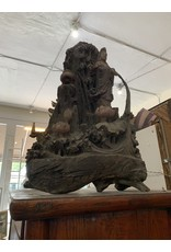 Early Wood Carving Quan Yin Scene