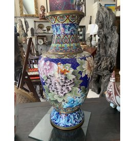 Hand Painted Chinese cloisonné vase